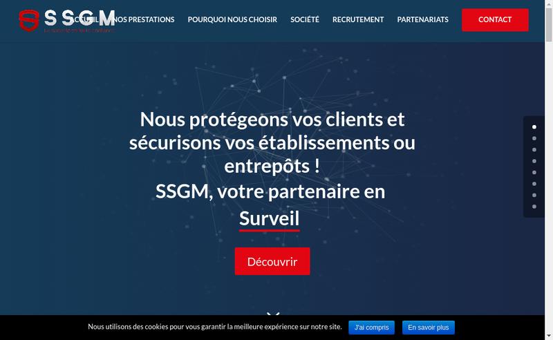 Capture d'écran du site de SSGM