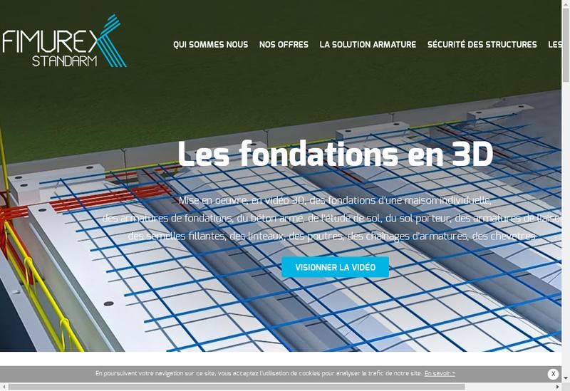 Capture d'écran du site de Fimurex Valoises