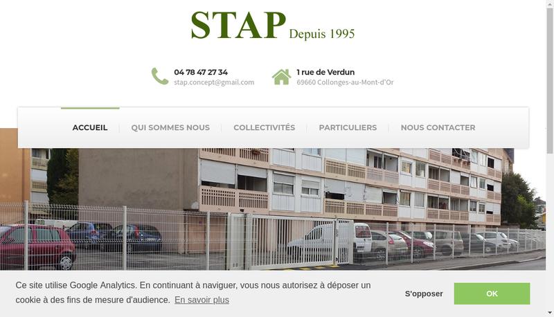 Capture d'écran du site de Stap