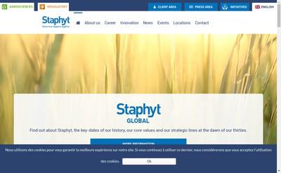 Site internet de Staphyt Regulatory