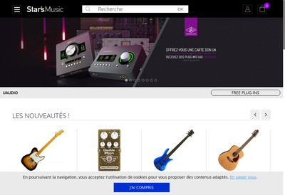 Site internet de Stars Music