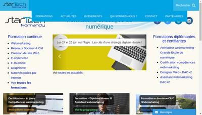Site internet de Startech Normandy