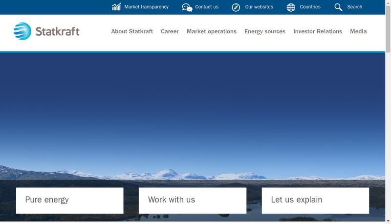 Capture d'écran du site de Statkraft France SAS