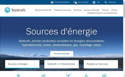 Site internet de Statkraft France Sas