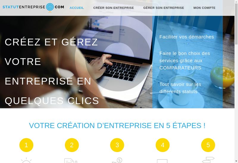 Capture d'écran du site de StatutEntreprise