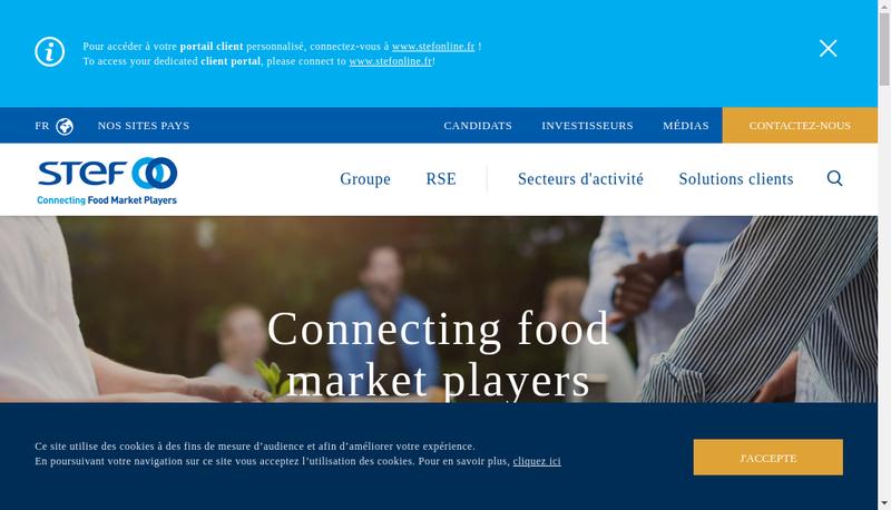 Capture d'écran du site de STEF