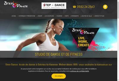 Site internet de Step Dance - Studio Emmanuelides
