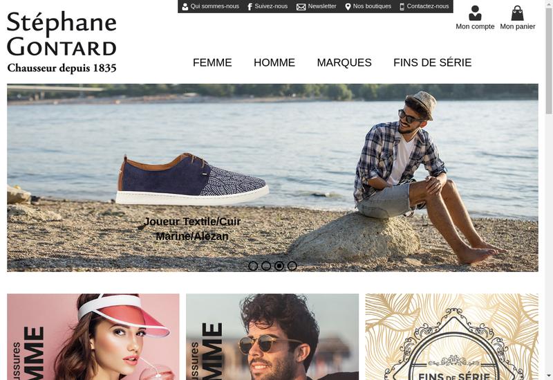 Capture d'écran du site de Stephane Gontard