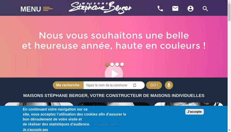 Capture d'écran du site de Maisons Stephane Berger