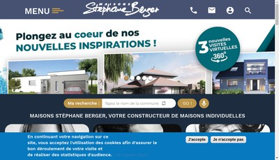 Site internet de Maisons Stephane Berger