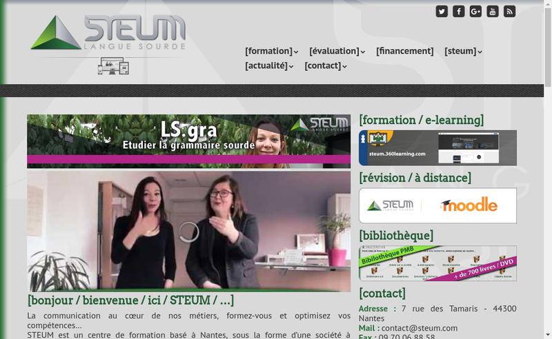 Capture d'écran du site de Steum