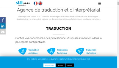 Site internet de Stiil Traduction