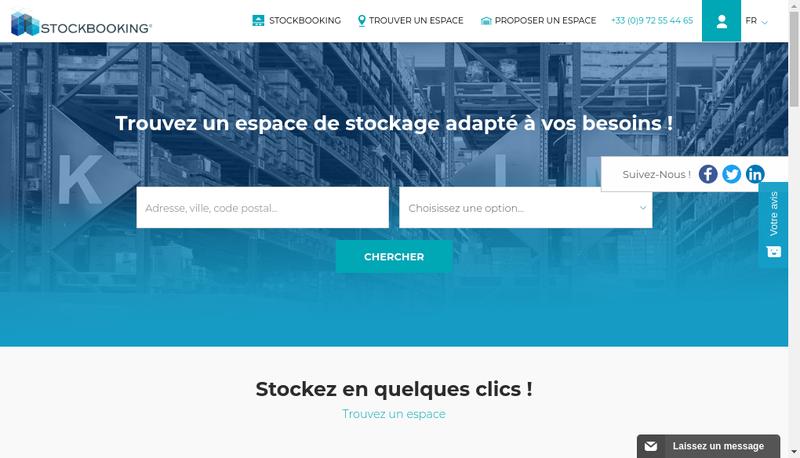 Capture d'écran du site de Stockbooking