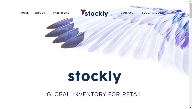 Capture d'écran du site de Stockly