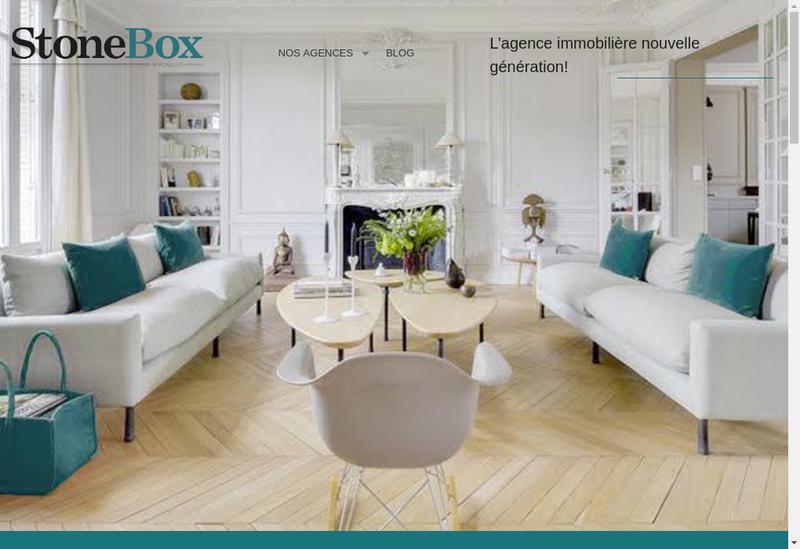 Capture d'écran du site de Stomebox