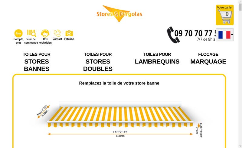 Site internet de Stores et Pergolas