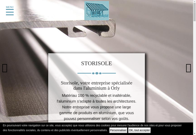 Capture d'écran du site de Storisole