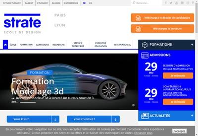 Site internet de Strate College