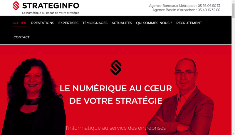 Capture d'écran du site de Strateginfo