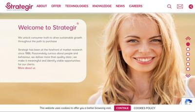 Site internet de Strategir