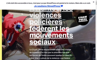 Site internet de Street Press