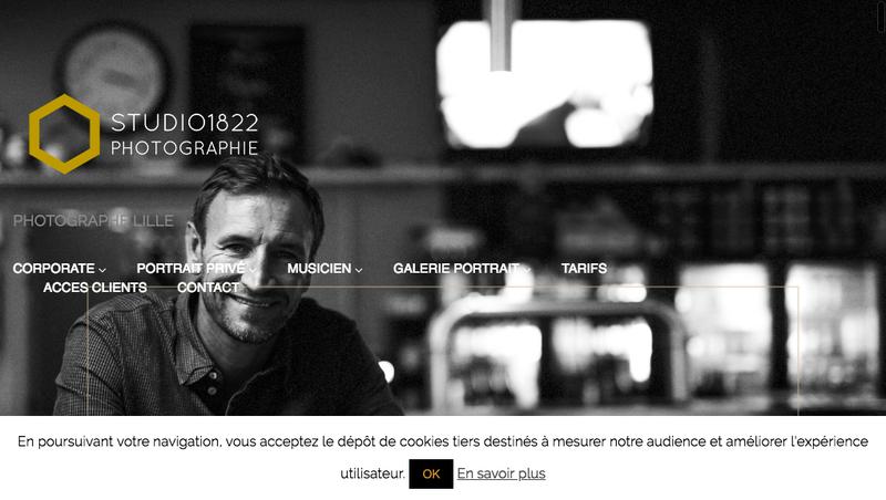 Capture d'écran du site de Studio 1822