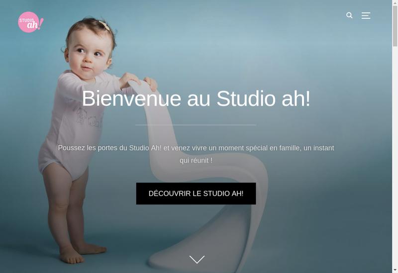 Capture d'écran du site de Studio Ah