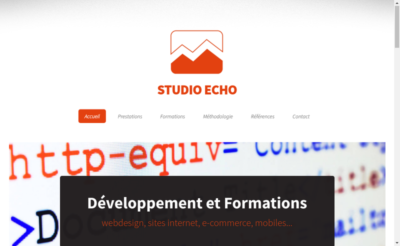 Capture d'écran du site de Studio Echo