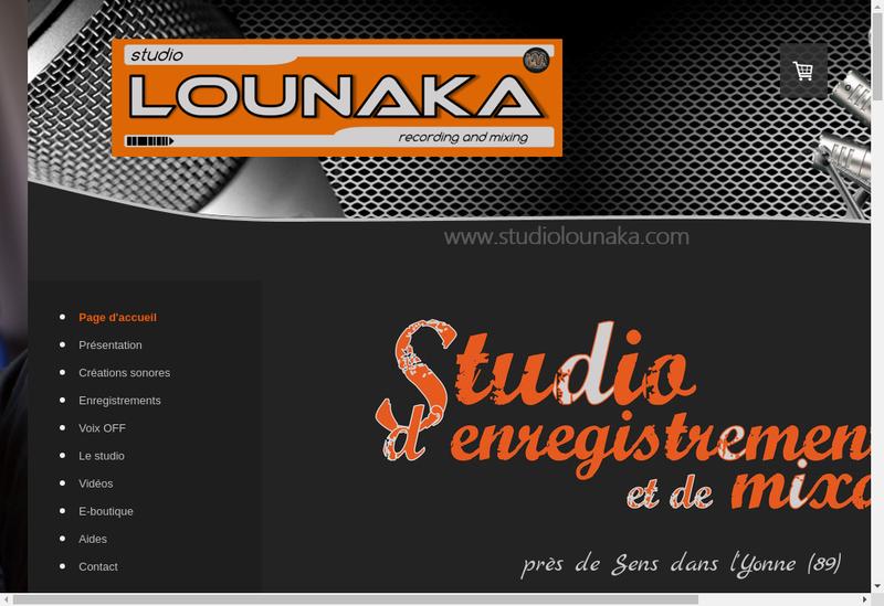 Capture d'écran du site de Studio Lounaka