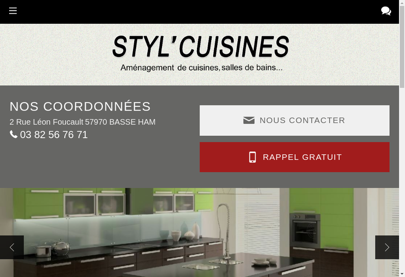 Capture d'écran du site de Styl Cuisine