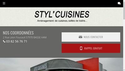 Site internet de Styl'Cuisine