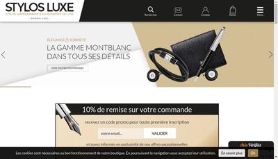 Site internet de Stylos-Luxe Com