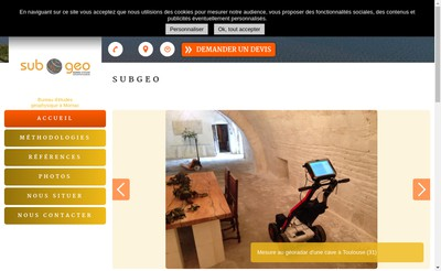 Site internet de Subgeo