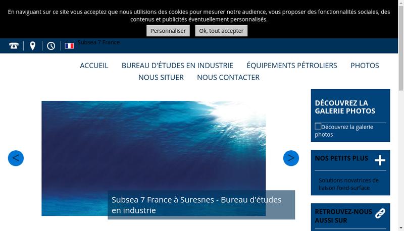 Capture d'écran du site de Subsea 7 Angola