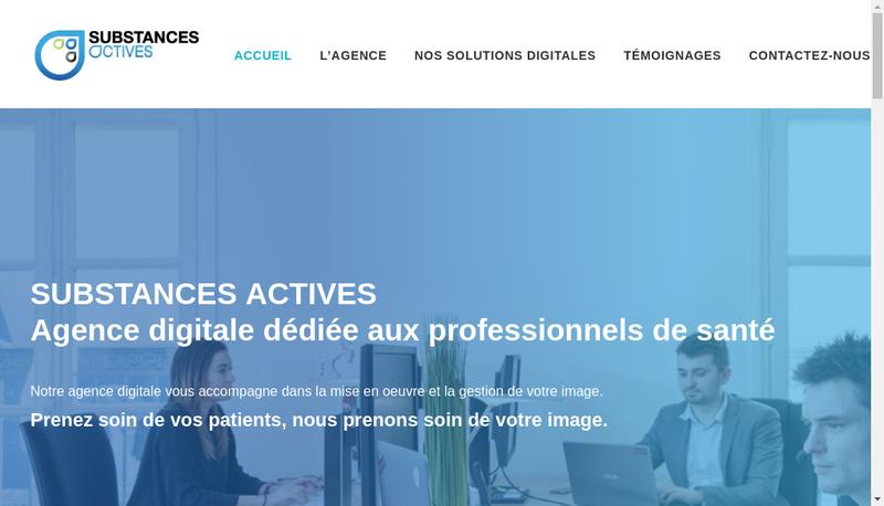 Capture d'écran du site de Substances Actives