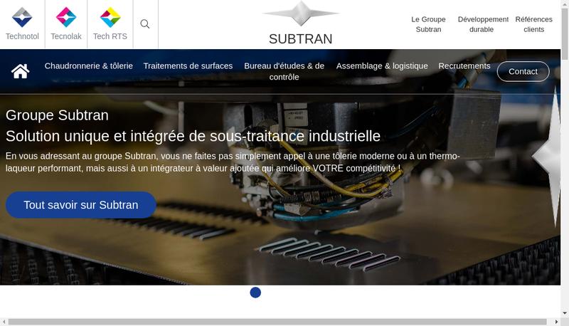 Capture d'écran du site de Tech Rts