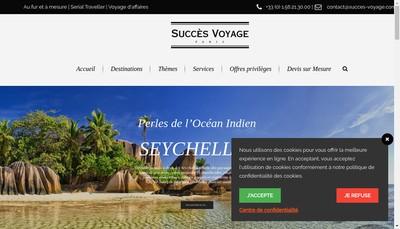 Site internet de Succes Voyages