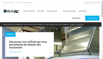 Capture d'écran du site de Sudac Air Service