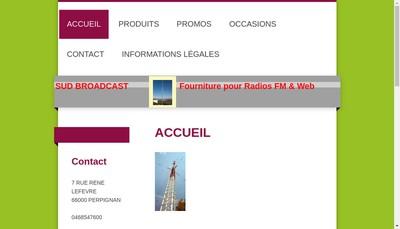 Site internet de Sud Broadcast