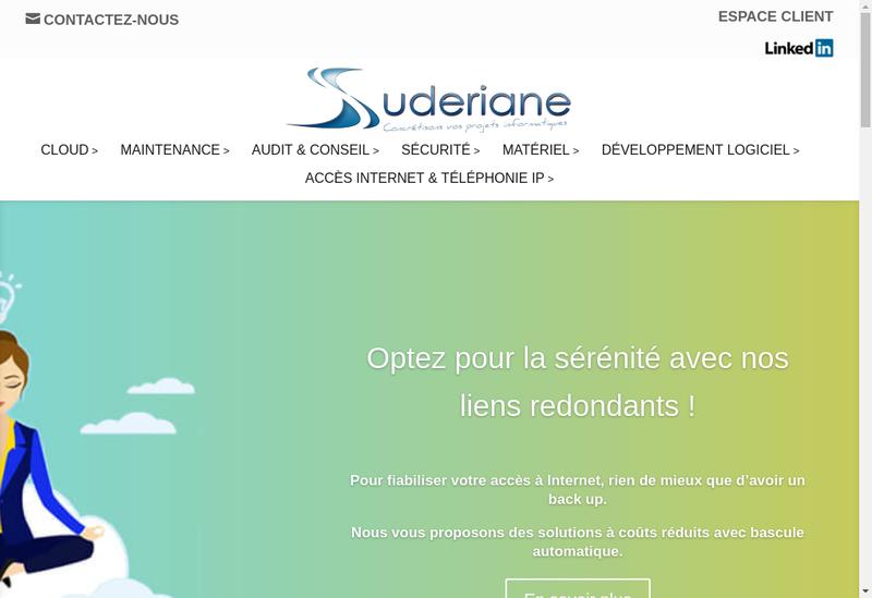 Capture d'écran du site de Suderiane