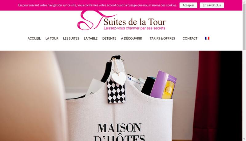 Capture d'écran du site de La Tour de Pacoret