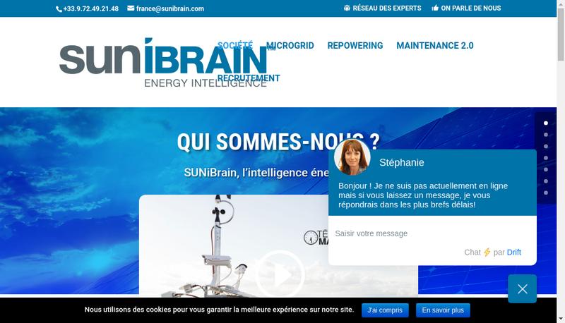 Capture d'écran du site de Sunibrain