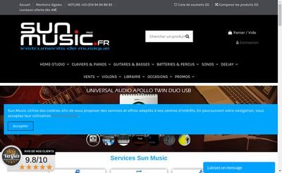 Site internet de Sun Music