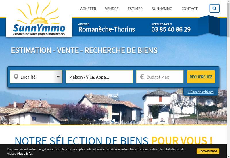 Capture d'écran du site de Sunnymmo