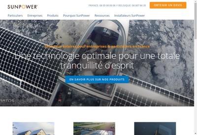 Site internet de Sunpower Energy Solutions France SAS