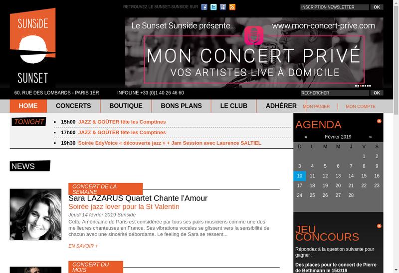 Capture d'écran du site de Le Sunset