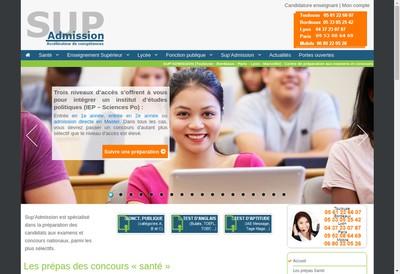 Site internet de Sup'Admission