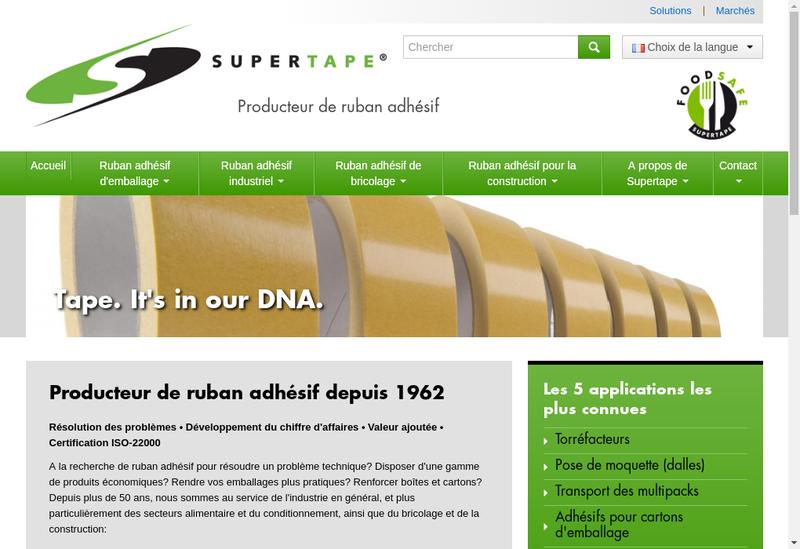 Capture d'écran du site de Supertape France