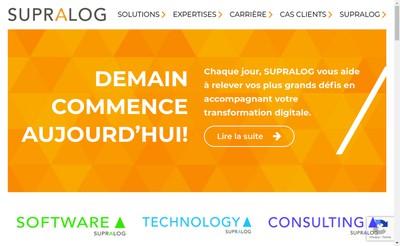 Site internet de Supralog