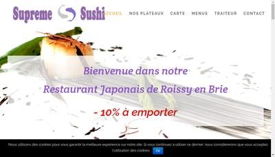 Site internet de Supreme Sushi